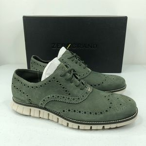 Cole Haan ZEROGRAND Wingtip Oxford Shoes Nubuck